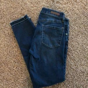 Articles of Society frayed ankle jeans